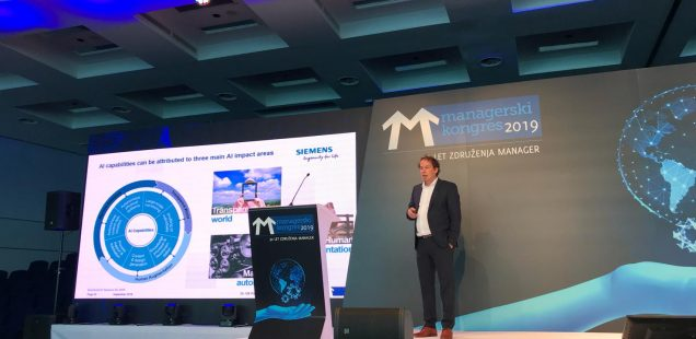 Talk: Responsible AI – How to Accelerate Industrial AI towards Sustainability, Managers' Association of Slovenia Congress, Portoroz, Slovenia, September 27th, 2019